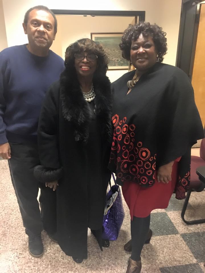 Laureen, Nicky, & Newark Council Pres. Crump